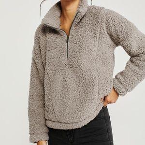 Abercrombie & Fitch Women's Half-Zip Sherpa Fleece